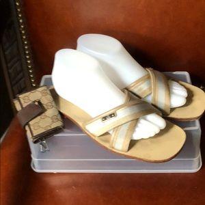 Gucci criss Cross sandals/slides